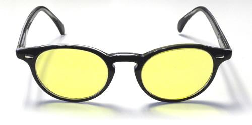 giorgio armani noire avec filtre jaune malvoyant